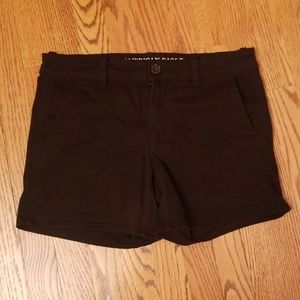 American Eagle black chino midi shorts 10
